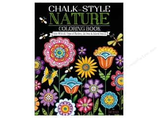 Design Originals Chalk-Style Nature Coloring Book