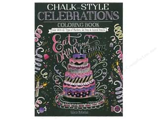 Design Originals Chalk-Style Celebrations Coloring Book