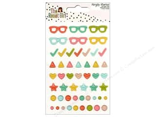 Simple Stories: Simple Stories Collection The Reset Girl Enamel Dots & Shapes (3 sets)