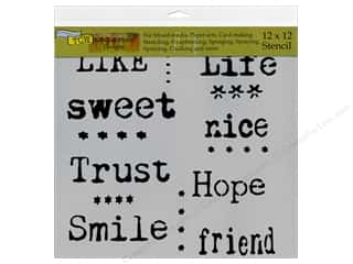The Crafter's Workshop Template 12 x 12 in. Life Words