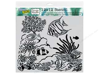 scrapbooking & paper crafts: The Crafter's Workshop Template 12 x 12 in. Aquarium