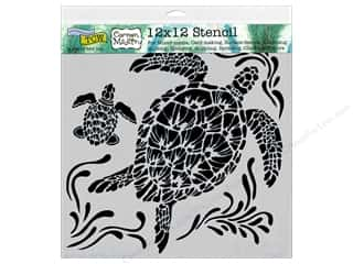 ruler: The Crafter's Workshop Template 12 x 12 in. Sea Turtles