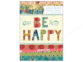 gifts & giftwrap: Molly & Rex Note Sticky Pad Portfolio Be Happy Patchwork