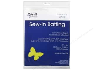 Bosal Batting 45 x 36 in. Polyester 4.2 oz. White