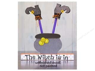 Foundations Decor Wood Shape Shape Witch In Cauldron
