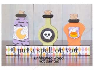 Foundations Decor Wood Shape Shape 3 Potion Bottles