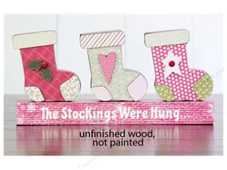 Foundations Decor Wood Shape Shape Stockings Were Hung Picture
