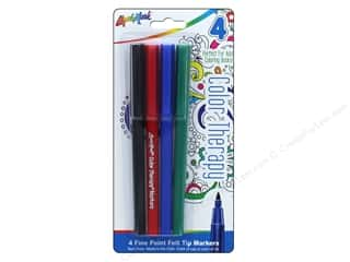 Thin point black marker: Liquimark Markers Color Therapy Fine Point Red/Blue/Green/Black