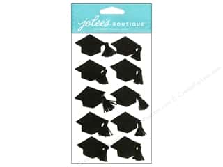 stickers: Jolee's Boutique Stickers Large Graduation Cap Black