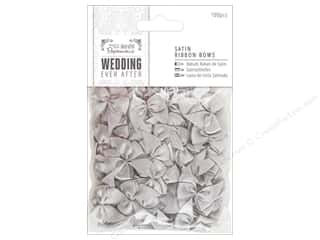 Docrafts Papermania Wedding Ribbon Bow Satin Silver