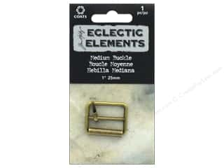 Coats Tim Holtz Eclectic Elements 1 in. Medium Buckle 1 pc. Antique Brass