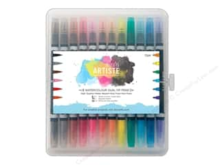 Docrafts Artiste Watercolor: Docrafts Artiste Dual Tip Pens 12 pc. Watercolor