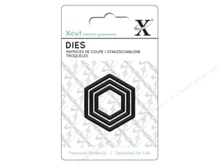die cutting machines: Docrafts Xcut Mini Decorative Dies 3 pc. Nesting Hexagons