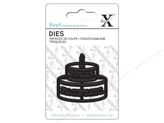 dies: Docrafts Xcut Mini Decorative Dies 1 pc. Happy Birthday