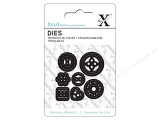 die cutting machines: Docrafts Xcut Mini Decorative Dies 7 pc. Buttons