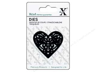 dies: Docrafts Xcut Mini Decorative Dies 1 pc. Filigree Heart