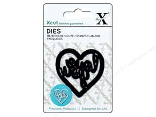 die cutting machines: Docrafts Xcut Mini Decorative Dies 1 pc. Love You Heart