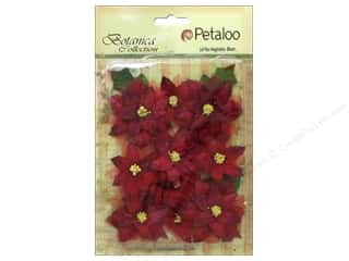 Petaloo Botanica Collection Holiday Regal Velvet Poinsettia Red