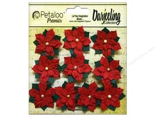Petaloo Darjeeling Holiday Poinsettias Mini Red