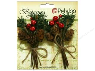 Petaloo Botanica Collection Holiday Pick Pine Cones/Berries