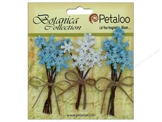 floral & garden: Petaloo Botanica Collection Holiday Pick Glitter Snowflake Blue/White