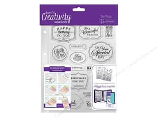 stamps: Docrafts Creativity Essentials Clear Stamp Set Traditional Sentiment