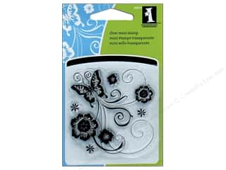 stamps: Inkadinkado InkadinkaClings Clear Stamp Mini Butterfly Scroll