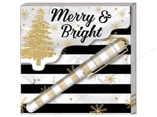 Lady Jayne Note Pad Matchbook With Pen Winter Glitz Tree