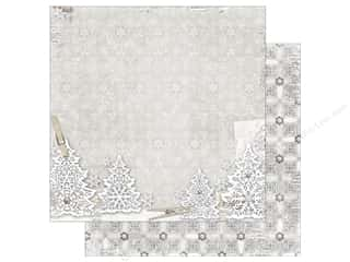 scrapbooking & paper crafts: Bo Bunny 12 x 12 in. Paper Winter Wishes Wonderland (25 pieces)
