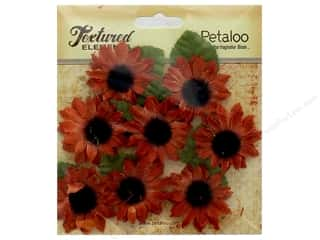 Petaloo Textured Elements Canvas Sunflower Mini Fall