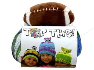 yarn & needlework: DMC Top This Yarn Kit Football Green & Blue