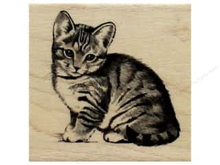 stamps: Inkadinkado Wood Stamp Little Kitten