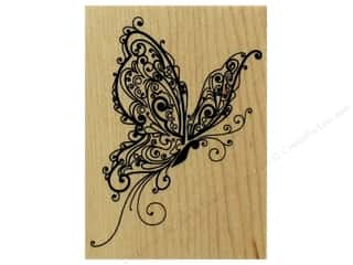 stamp: Inkadinkado Wood Stamp Butterfly