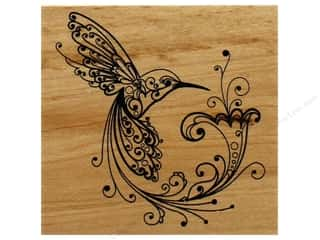 invited stamp: Inkadinkado Wood Stamp Hummingbird