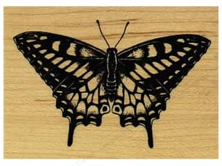 stamps: Inkadinkado Wood Stamp Butterfly