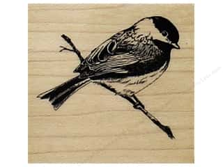 stamps: Inkadinkado Wood Stamp Chickadee