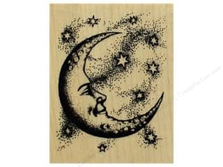 Inkadinkado Wood Stamp Crescent Moon