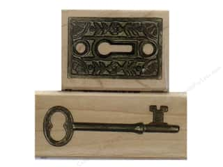 stamps: Inkadinkado Wood Stamp Set Lock N Key
