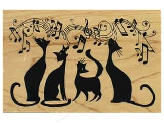 stamps: Inkadinkado Wood Stamp Cats In Tune