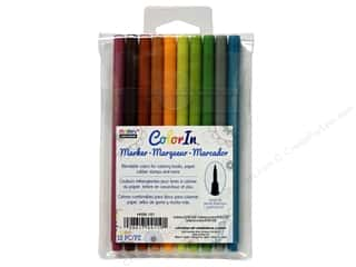 Uchida ColorIn Markers Brush Tip 10 pc. Natural