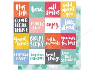 American Crafts 12 x 12 in. Paper Oh Happy Life All Smiles (25 sheets)