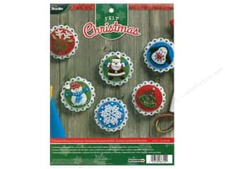 yarn & needlework: Bucilla Felt Kits Christmas Whimsy Ornaments