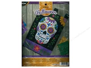 stamps: Bucilla Felt Kits Sugar Skull Wall Hanging