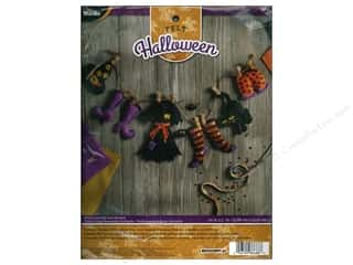 stamps: Bucilla Felt Kits Witch Laundry Line Garland