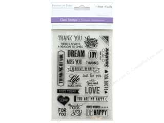 Rubber stamps: Multicraft Rubber Stamp Pack Clear Sentiments
