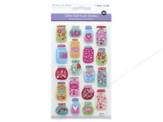 mason jars: Multicraft Sticker Glitter Soft Touch Mason Jar