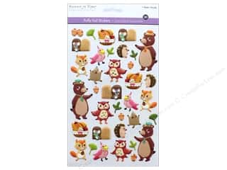 scrapbooking & paper crafts: Multicraft Sticker Foil Puffy Woodland Friends