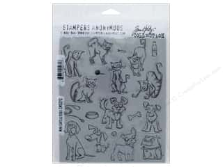 Tim Holtz Cling Mount Stamp Set 19 pc. Cats & Dogs