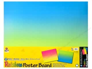 "scrapbooking & paper crafts: Pacon Poster Board Rainbow 22""x 28"" 2pc Ombre (24 pieces)"