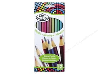craft & hobbies: Royal Metallic Color Pencils 12 pc